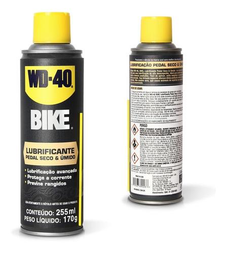 Imagem 1 de 3 de Lubrificante Pedal Seco Umido Corrente Wd40 255ml