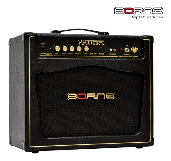 Amplificador De Guitarra Borne Warrior 50 50w Rms Cacau