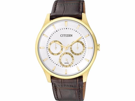 Relógio Citizen Masculino Tz20608m Ag8353-05a Dourado Couro