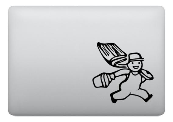 Adesivo Tablet Notebook Pc Pinto Balde Pincel Tinta Pintura
