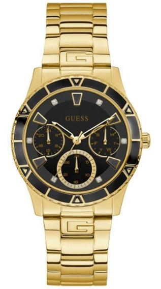 Relógio Feminino Guess Aço Dourado 92719lpgsda5 Original Nf
