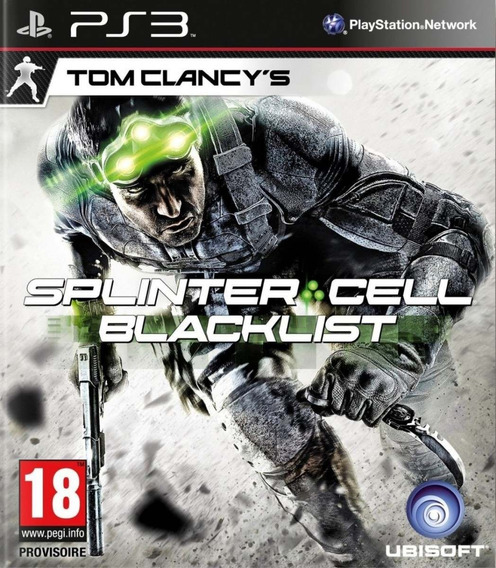 Game Play3 - Splinter Cell Blacklist - Novo Lacrado Ps3