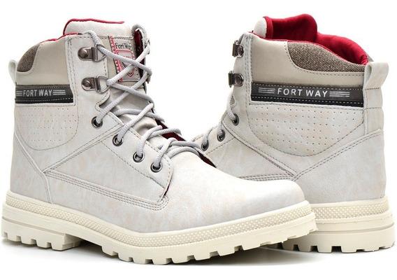 Bota Casual Sapato Masculino Moderno Fashion Outono Inverno