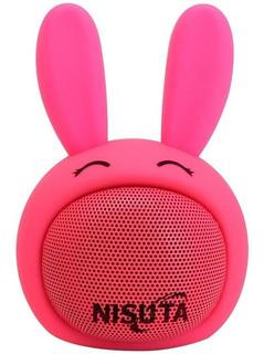 Parlante Portatil Con Bluetooth Nisuta Conejo