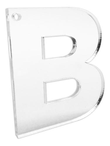 Llavero Letras Abecedario Acrílico - 3 Mm - 5 X Proporción