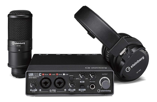 Imagen 1 de 1 de Kit Grabacion Interfaz De Audio Ur22 Mkiirp Yamaha Steinberg