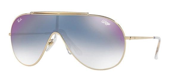 Ray-ban Wings Rb3597 001/x0 33 - Dourado/azul Gradiente Espe