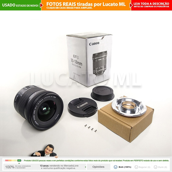 Lente Canon Efs 10-18mm Is Stm + Cx + Conversor Fullframe 2a