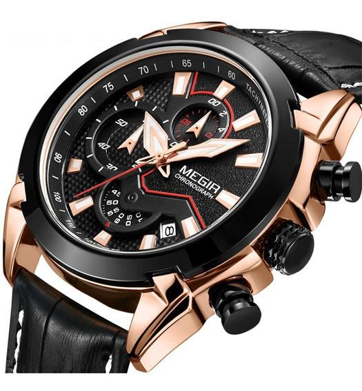 Megir 2065 Relógio Homens Creative Luxo Quartzo Relógios Pra