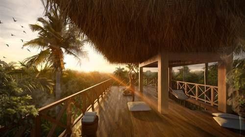 Hermosa Residencia De 2 Habitaciones En Condominio En La Selva De Tulum P2988