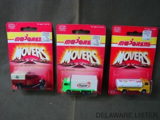 Vintage Lot Of 3 Majorette Delivery Truck Movers 200 Series