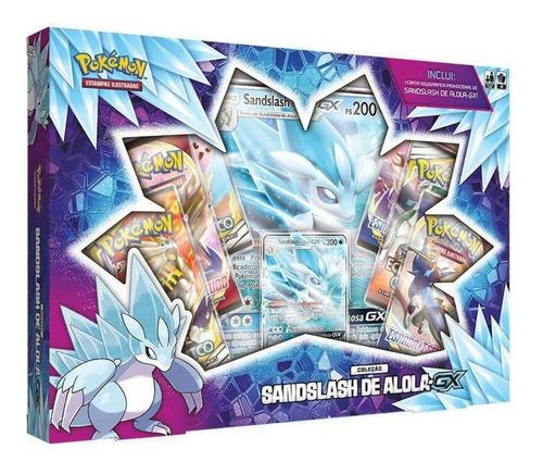 Card Game Pokémon Box Sandslash De Alola Gx Lacrado Copag