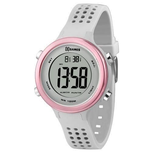 Relógio Xgames Feminino Digital Xfppd068 Bxix Cinza Com Rosa