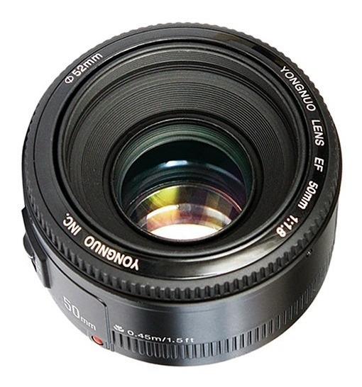Lente Yongnuo 50mm F1.8 Para Nikon Motor De Foco 12x S/juros