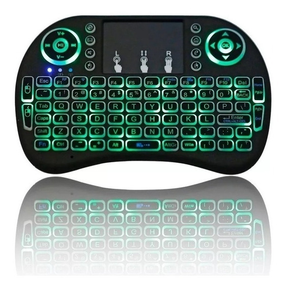 Mini Teclado Led Para Smart Tv Pc