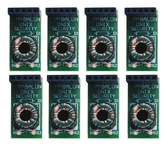 Kit 8 Balun Conversor Placa Para Rack Onix Security Híbrido