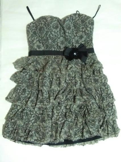 Vestido Strapless Talle Small