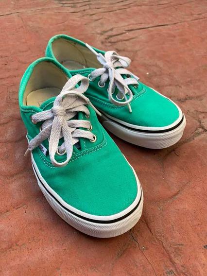 Zapatillas Vans Authentic Mujer Verde Claro (originales)