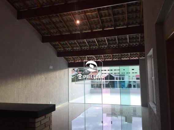 Cobertura Com 3 Dormitórios À Venda, 190 M² Por R$ 636.000 - Campestre - Santo André/sp - Co10841