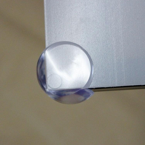 material suave NBR marr/ón 1# Accod 12 unidades Protectores de esquina de seguridad para beb/é adhesivo 3M fuerte en /ángulo recto