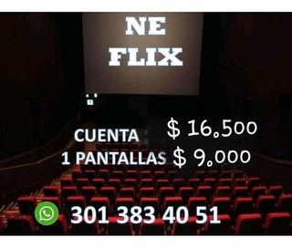 Promocion Cueentes Neflix 1 Pntalla X 30 Dias
