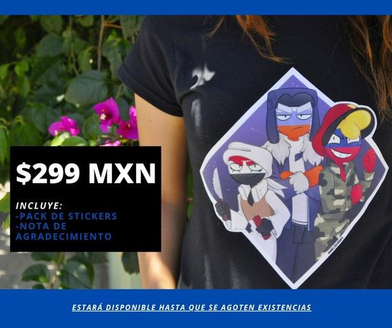 Camisa Negra Countryhumans |russia, Venezuela Y Siria|