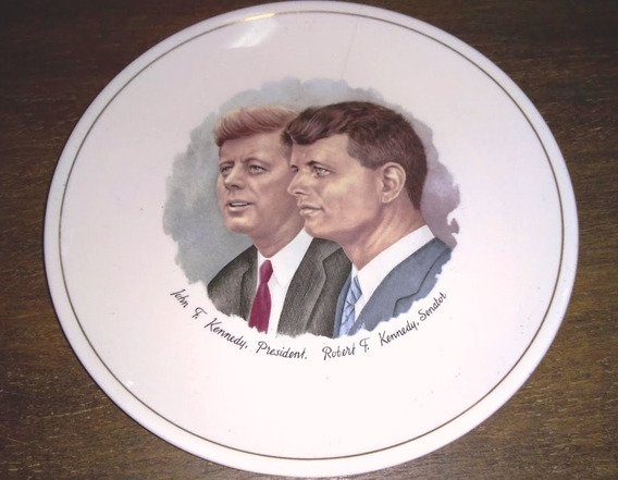 Remate Plato Colección, Presidente John F. Kennedy Y Hermano