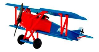 Kit Montar Avião Fokker D.vii Biplano New Ray 1:48 Azul