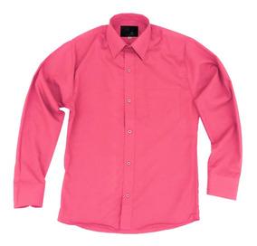 Camisa Vestir Infantil Juvenil Salida Escolar Coral 2 A 16