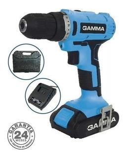 Taladro Atornillador Inalambrico 21v 10mm Gamma 2 Baterias
