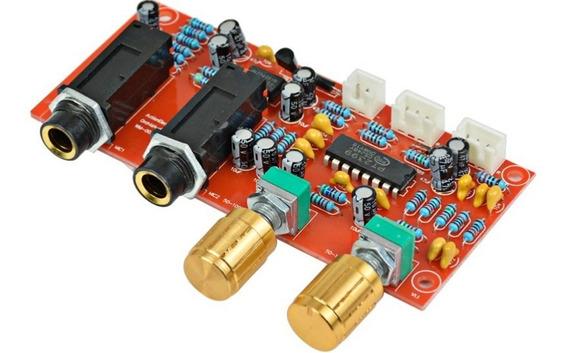 Placa Montada Pre Amplificador Microfone Karaoke Eco Rv Full