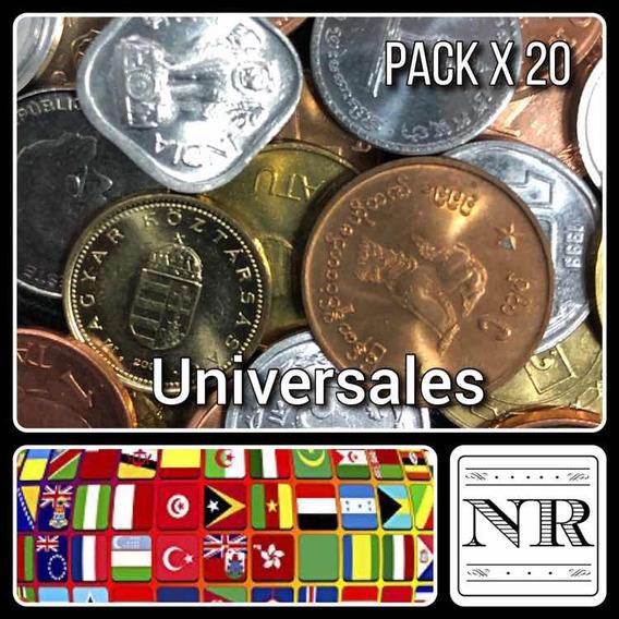 Lote 20 Monedas Paises Exoticos - Africa - Asia - Oceania
