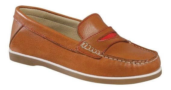 Zapato Mocasín Cuero Mujer Smile Lady Dunlop 2647