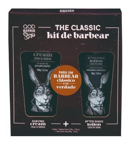 Imagem 1 de 2 de Kit De Barbear   Creme De Barbear + Loção Pós Barba   Qbs