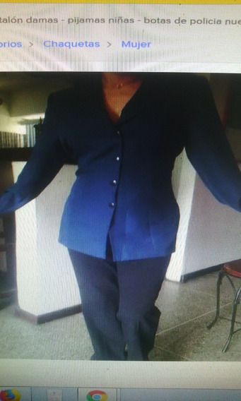Blazer Dama Conjunto Uniforme Chaqueta Y Pantalon Talla M