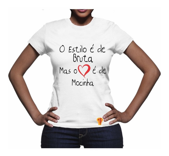 Camiseta Feminina Camiseta Mocinha Brusinha Cowgirl Bruta