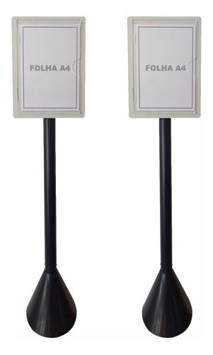 Kit 2 Display Pedestal Para Folha A4 - Identificação De Área