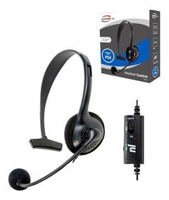 Fone De Ouvido Headset Oex Hs211 Game Control Preto Para Ps4
