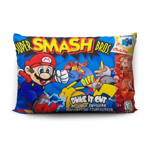 Funda De Almohada Super Smash Bros 70x45cm Vudú Love