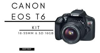 Cámara Canon Eos Rebel T6 Ef-s 18-5