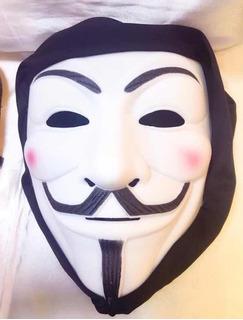 Máscara V De Vingança Anonymous Vendetta - Com Capuz