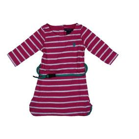 Vestido Largo U.s. Polo Assn. Para Niñas