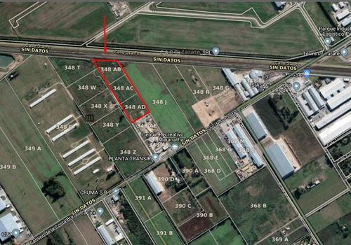 Tres Parcelas Industriales En Zarate. 10.000 Cada Una, Venta Separado O En Conjunto
