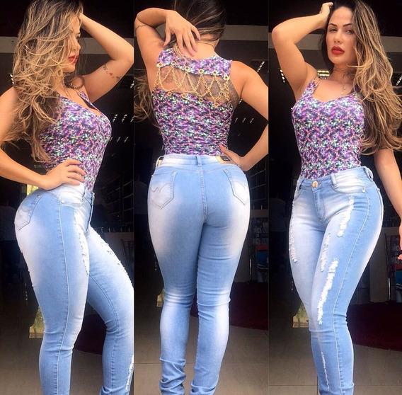 Calça Jeans Feminina Levanta Bumbum Zigma Com Bojo