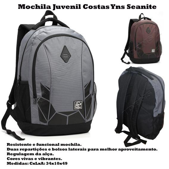 Mochila Masculina Escolar (g) Seanite Orignial Yins Mj13060
