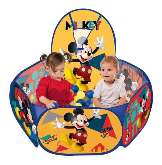 Piscina Bolinha Divertida Mickey 100 Bolinhas Bebê Criança