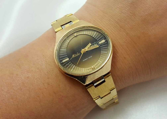 Relógio Feminino Mido Ocean Star Maracanã Folheado A Ouro