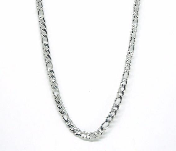 Corrente Masculina De Aço Inox Prata O2.3