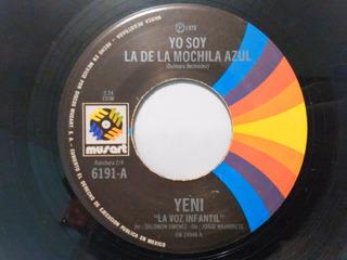 Yeni - Yo Soy La De La Mochila Azul - Sencillo 7 Pulgadas