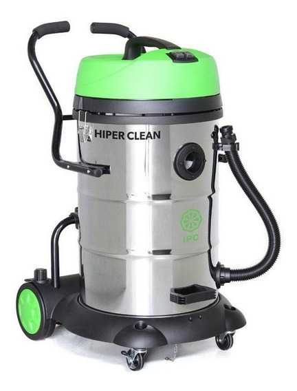 Aspirador IPC Hiper Clean 75L aço inoxidável, verde e preto 220V